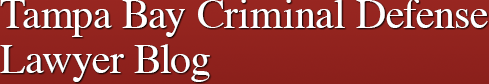 Tampa Bay Criminal Defense Lawyer Blog